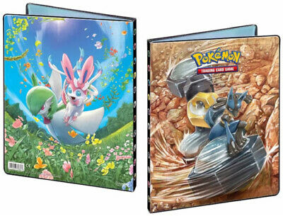 Lucario and sylveon: SM10-unbrokebond-A4 -14 pages Portfolio Pokemon-252 cards