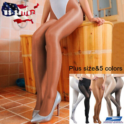 Plus Size Women 70D Pantyhose Stretchy Shiny Glossy Stockings Dance Tights 200lb