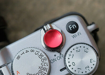 HIGH QUALITY SHUTTER Button Soft Release Metal Concave red Olympus