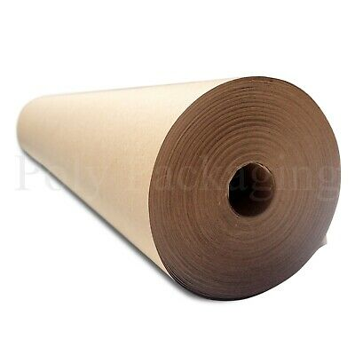 "50m x 450mm/18"" Wide Rolls BROWN KRAFT WRAPPING PAPER Parcel Packing Pack Post"