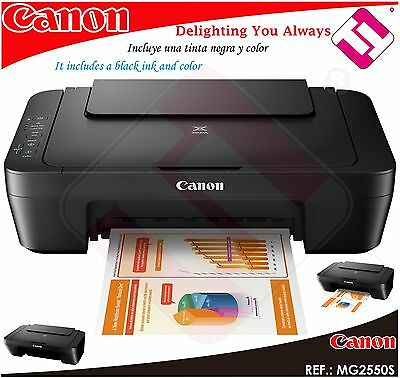 Multifunction Printer Scanner Canon Pixma MG 2550s Mg2550s Inject a Colour A4