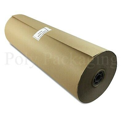 """2 x 225m x 600mm/24"""" Wide Rolls BROWN KRAFT WRAPPING PAPER Postal Packaging"""