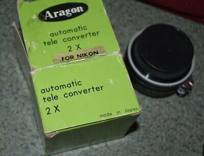 Aragon automatic tele converter 2x for Nikon made in Japan