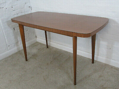 Retro 1950s/1960s Wood Grain Effect Laminate or Formica Small Kitchen Table