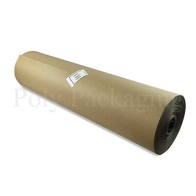 """2 x 225m x 750mm/30"""" Wide Rolls BROWN KRAFT WRAPPING PAPER Postal Packaging"""