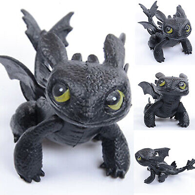 How to Train Your Dragon Toothless Night Fury Action Figures Kids Toys Gift 7cm
