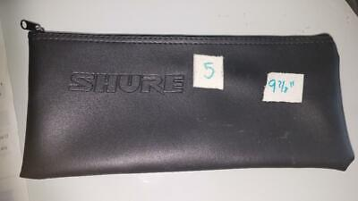 Shure Microphone Case Bag Zipper Pouch Black 9.7 By 4.5 Inch