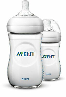 - NEW - Philips AVENT Natural 9 Oz Bottle (Pp), 2 Pack, Clear