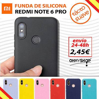 Funda Xiaomi Redmi Note 6 Pro Carcasa Silicona Gel Ultra Suave Flexible