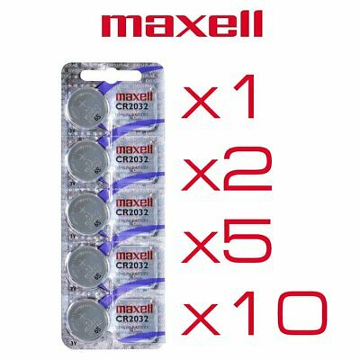 Pile CR2032 DL2032 E-CR2032 Maxell lithium 3V lot de 1, 2, 5 ou 10 piles