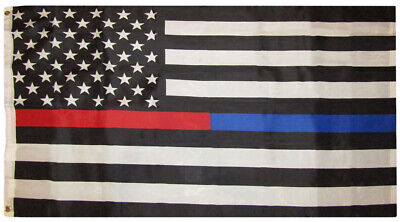 105a2fdead0bcf 3x5 USA Fire Police Thin Red Blue Line 3'x5' Premium 75D Polyester Flag