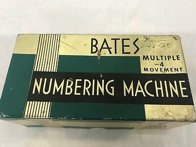 Vintage Letterpress Numbering Machine wetter 25 Pretty And Colorful