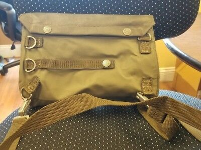Genuine Swiss Army SM-74 Gas Mask Bag Rubberized , camera bag , vintage military
