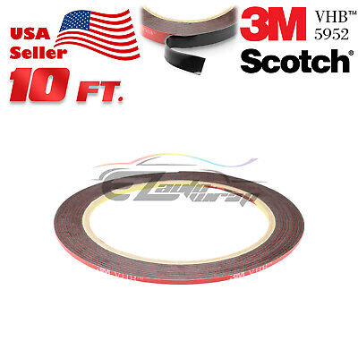 "Genuine 3M VHB #5952 Double-Sided Mounting Foam Tape Automotive Car 1/4"" x 10FT"