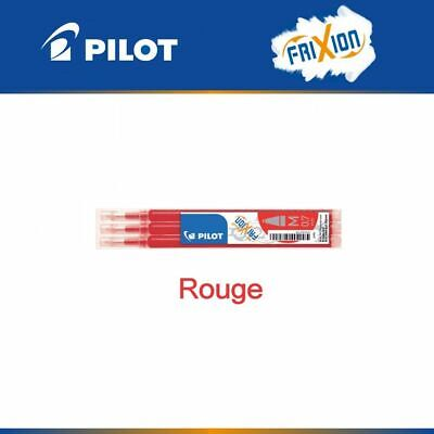 Pilot Frixion Ball / Frixion Ball Clicker recharge rouge stylo lot 3 cartouches