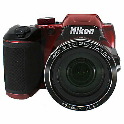 Nikon COOLPIX B500 16MP Digital Camera Red With 40x Optical Zoom and Wi-Fi