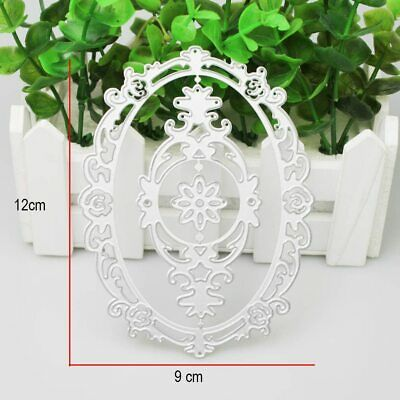 Oval Lace Flower Frame Metal Cutting Dies for Scrapbooking Crafts