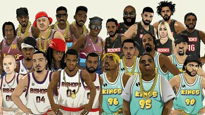 RAP HIP HOP SUPER TEAM Hollywood Celebrity Poster TV Movie Poster 24 in by 36 in