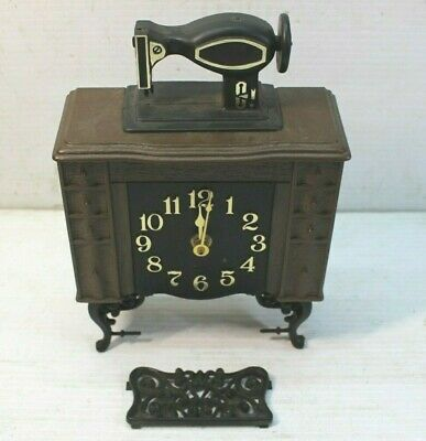 Rare Vintage Spartus Clock Sewing Machine NOT WORKING FOR RESTORATION