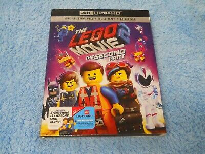 Never Watched  The Lego Movie 2 The Second Part 4K Blu-ray  + Slip