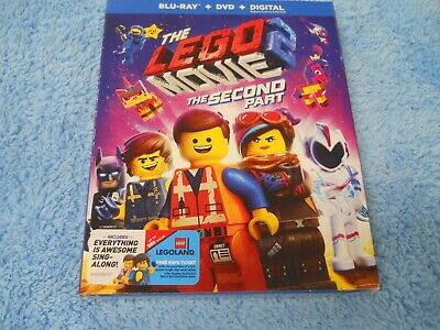Never Watched The Lego Movie 2 The Second Part DVD Blu-ray + Slip