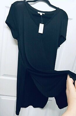 b8530a444 NWT Avenue Loralette Plus Size 1X Black Top Tee Blouse With Side Slits Cute