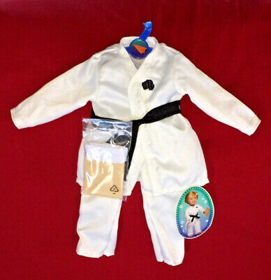 "NWT My Life As WHITE KARATE UNIFORM Belts & 2 BOARDS Boy Clothes Outfit 18"" Doll"