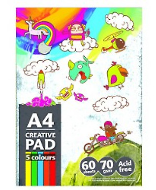 1500 Sheets (25 X 60 Sheets) A4 Creative Drawing Colour Paper Sketch Pad 70gsm -