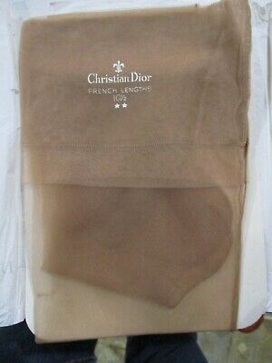 2f2246a44 1Pr Vintage Christian Dior Seamed Full Fashion Sheer Nylon Stockings 10 1 2  M Bg