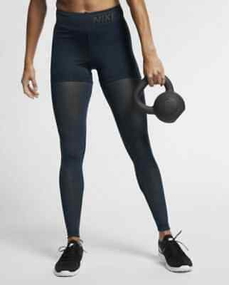 5d34a472758587 NIKE PRO DELUXE Women's Mid-Rise Training Tights M L Burgundy Red ...