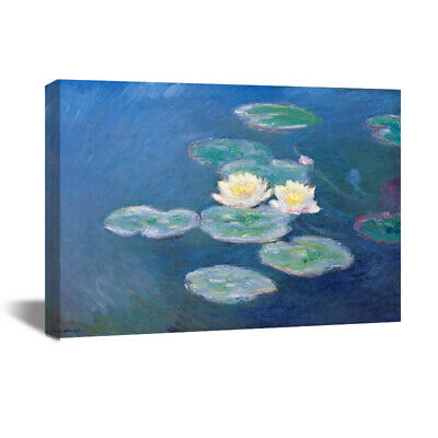 Water Lilies Claude Monet HD Canvas Print Oil Painting Wall Decor 22x29""