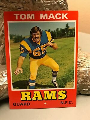 Wonder Bread Tom Mack Football All-Star Series Card from the 1970s Ships Free