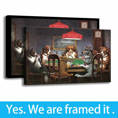 HD Print Cartoon Wall Art Barking and Bluffing Canvas Painting Bedroom Deco16x24