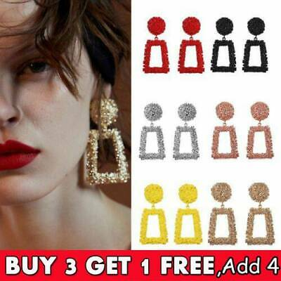Fashion Punk Jewelry Geometric Dangle Drop Earrings Metal Statement Big Gold .RO