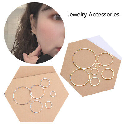 Round Circle Silver Golden Rings for DIY Earrings Making 10PCS/Pack