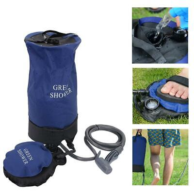 12L Portable Pressure Camp Shower with Foot Pump Water Bag Hiking Camping Gear