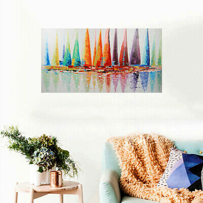 *Set Sail* Hand Painted Oil Painting On Canvas Abstract Home Decor Art Framed
