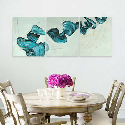 Abstract Hand Painted Canvas Oil Painting Wall Art Home Decor Framed - Ribbon