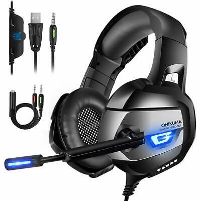 3.5mm Gaming Headset MIC LED Headphone Stereo Surround fr PC Laptop PS4 Xbox one