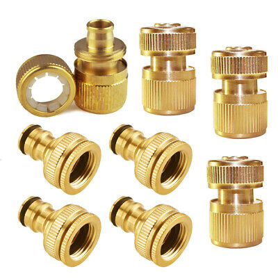 """Brass Garden Lawn Water Hose Pipe fitting 12mm 1/2"""" 3/4"""" Connector Tap Adaptor"""