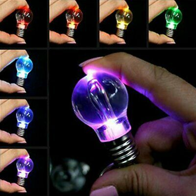 Mutil Color Changing Flashlight LED Light Bulb Lamp Key Ring Keychain Lamp Torch