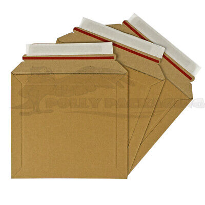 100 x CARDBOARD ENVELOPES 180x165mm A-CD LIL Rigid ROYAL MAIL DVD/BOOK/CD's