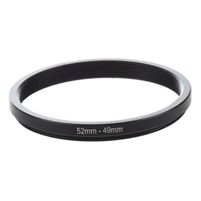 52mm-49mm 52mm to 49mm Black Step Down Ring Adapter for Camera N2S7