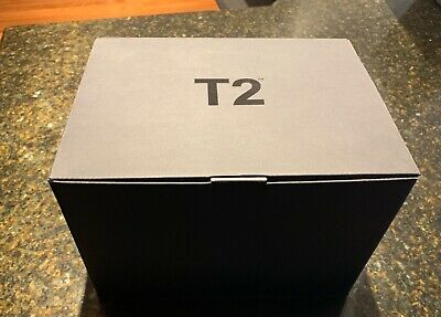 T2 Teapot Cup Saucer x2 White - Black Tea - Brand New - Unwanted gift