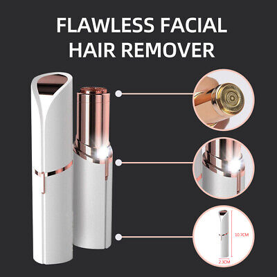 Flawless Face Facial Finishing Touch Skin Women Painless Hair Remover USB Charge