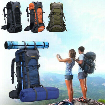 Extra Large 70L Outdoor Travel Backpack Hiking/Camping Rucksack Luggage Bag UK