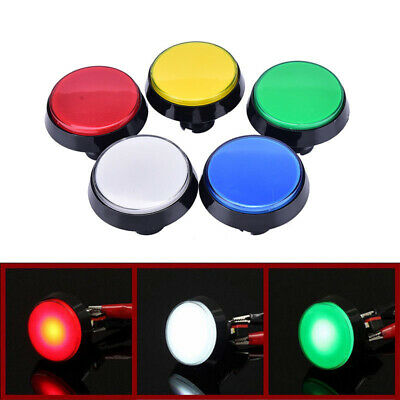 60mm Switch Lamp Push Button Big Arcade Video Game Player LED Round DIY Kit
