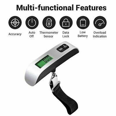 Portable Travel Tare 110lb 50kg Hanging Digital Suitcase Luggage Scale