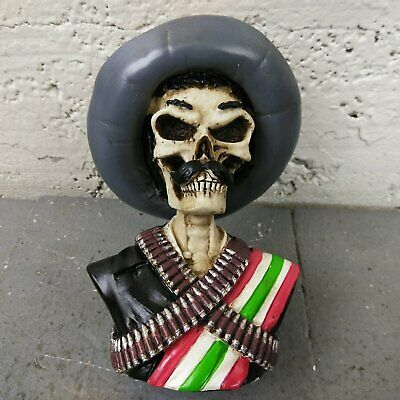 ZAPATA SKULL CUSTOM Shift Knob mexican blanket hot rod rat