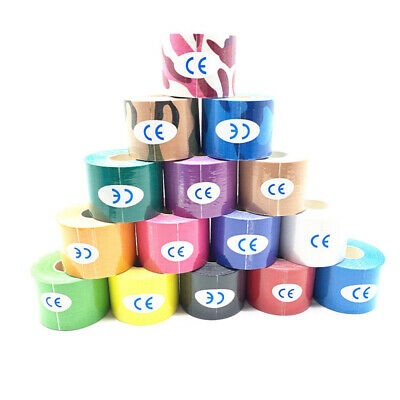 5M Athletic Muscle Tape Kinesiology Physio Strapping Sport Body Knee 5 Colors UK